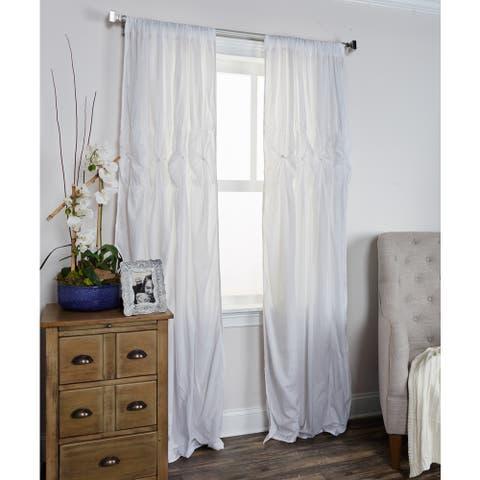 Arden Loft Torsades Collection White Cotton Curtain Panel