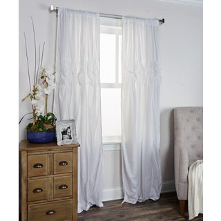 Arden Loft Torsades Collection White Cotton Curtain Panel