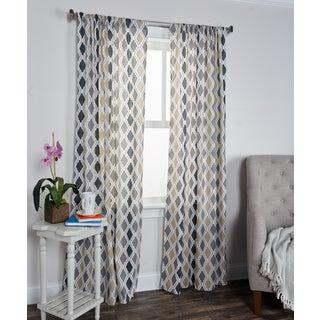 Arden Loft Mindwork Collection Diamond Pattern Cotton Curtain Panel