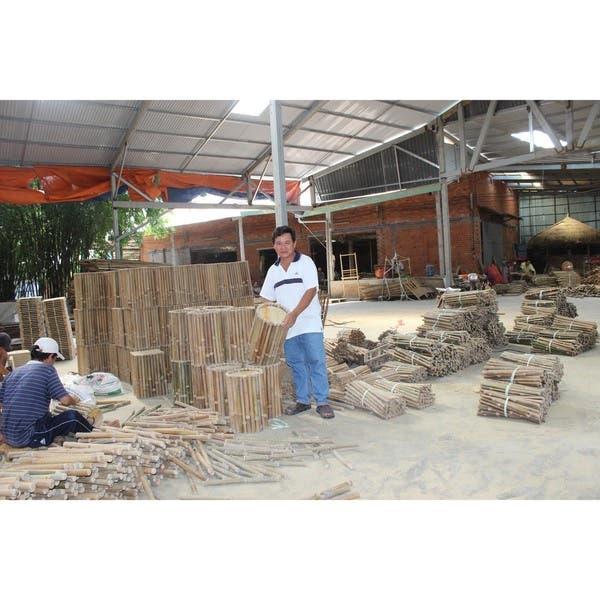 Shop Teak Wood Basket With Handle Vietnam Free Shipping