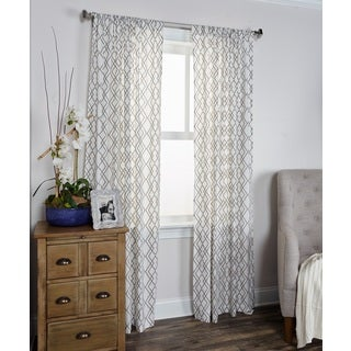 Arden Loft Mindwork Collection Geometric Pattern Cotton Curtain Panel