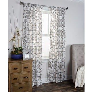 Arden Loft Mindwork Collection Medallion Pattern Cotton Curtain Panel