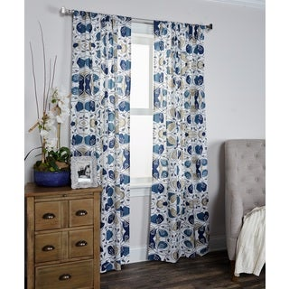 Arden Loft Mindwork Collection Floral Pattern Cotton Curtain Panel