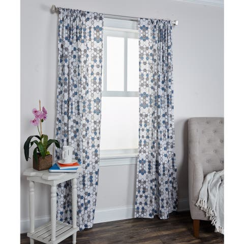 Arden Loft Mindwork Collection Geometric Pattern Cotton Curtain Panel
