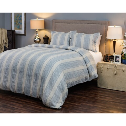Rizzy Home Mackie Striped Linen Duvet Cover