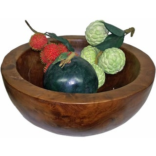 Teak Wood Large Bowl (Vietnam)