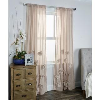 Arden Loft Thistle Terrace Tan Cotton Blend Curtain Panel