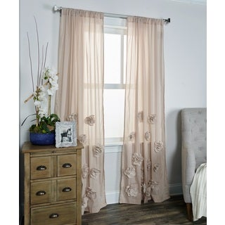 Arden Loft Thistle Terrace Tan Cotton Blend Curtain Panel