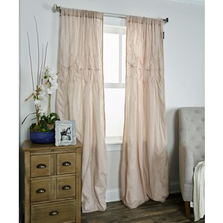 Arden Loft Torsades Collection Tan Cotton Curtain Panel
