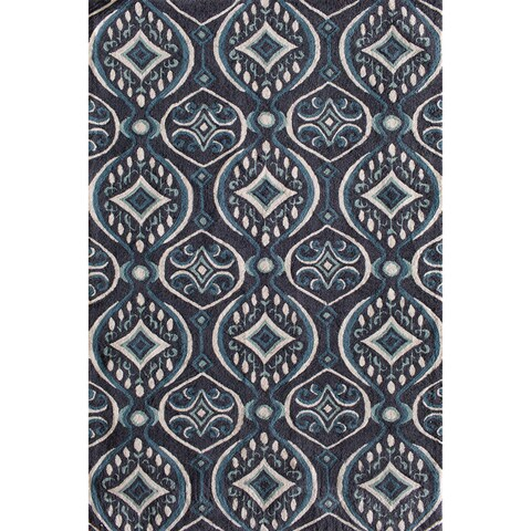 Central Oriental Moxi Moda Brown/Blue Area Rug - 5' x 7'