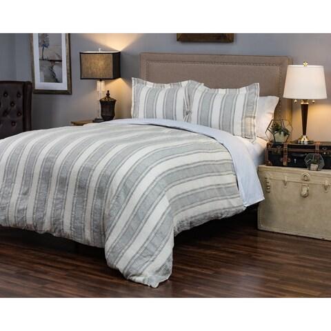 Rizzy Home Charlton Striped Linen Duvet Cover