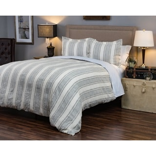 Rizzy Home Charlton Striped Linen Duvet Cover