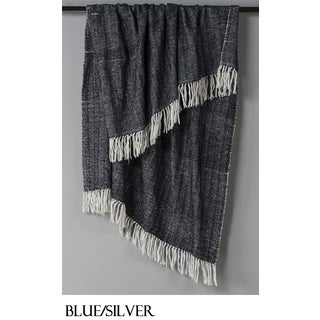 Hand-Woven Luxury Herringbone Throw by Rizzy Home