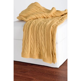 Plush Cable Knit Throws by Rizzy Home