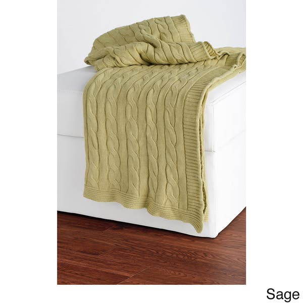 Shop Plush Cable Knit Throws By Rizzy Home Free Shipping