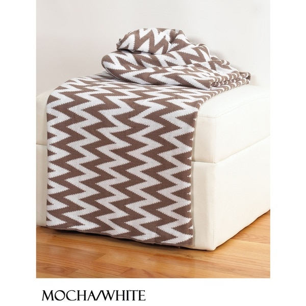 Chevron Throws by Rizzy Home - Free Shipping Today - Overstock.com