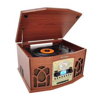 Pyle PTCDS7UBTBW/ PTCDS7UBTB Bluetooth Retro Turntable Vinyl Record Player with Vinyl-to-MP3 Recording