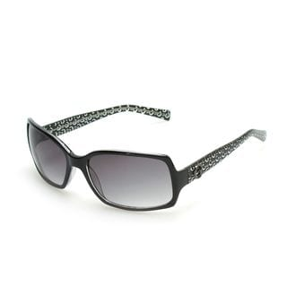 GUESS GU6408 Dark Havana Plastic Rectangular Frame Women's Sunglasses