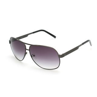GUESS GUF115 Gunmetal Metal Round Frame Men's Sunglasses
