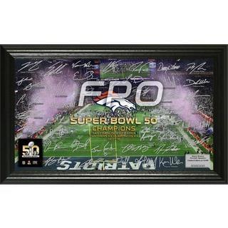 "Denver Broncos Super Bowl 50 Champions ""Celebration"" Signature Grid"