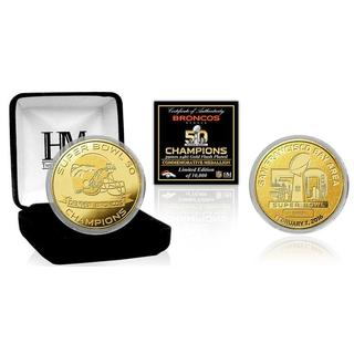 Denver Broncos Super Bowl 50 Champions Gold Mint Coin