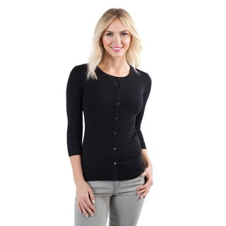 DownEast Basics Women's Crew Neck Cardigan