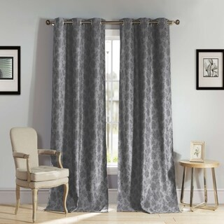 Aeryn 84-inch Blackout Grommet Top Curtain Panel Pair