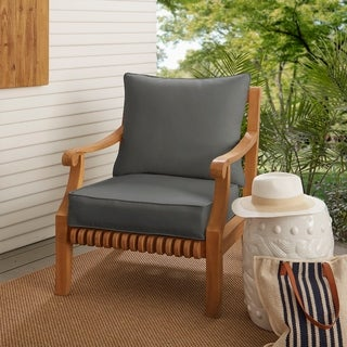 Sloane Charcoal Grey Indoor/ Outdoor Corded Chair Cushion And Pillow Set