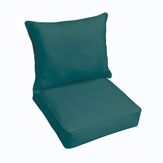 Sloane Teal Indoor/ Outdoor Corded Chair Cushion And Pillow Set