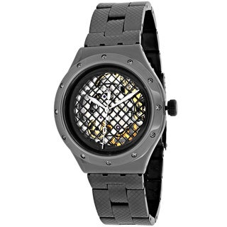 Swatch Men's YAB101G Vatel Round Gunmetal Stainless Steel Bracelet Watch