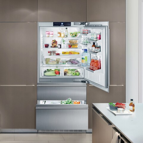 Liebherr Premium Plus Series 36-inch Fully Integrated Panel Ready Bottom Freezer Refrigerator