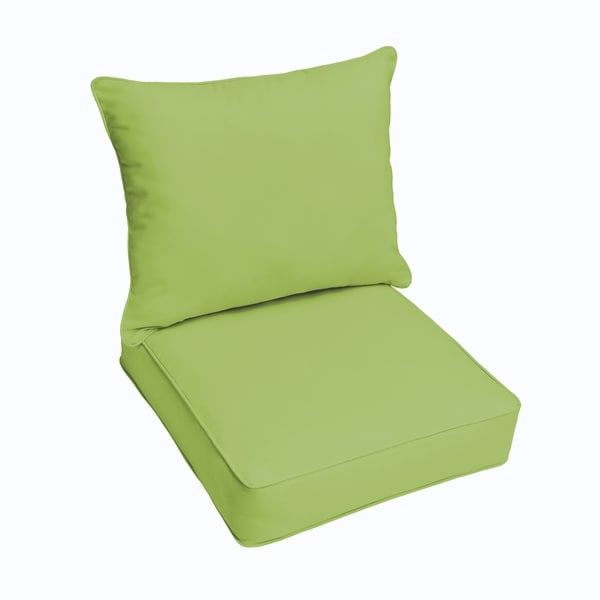 Sloane Apple Green Indoor/ Outdoor Corded Chair Cushion And Pillow Set