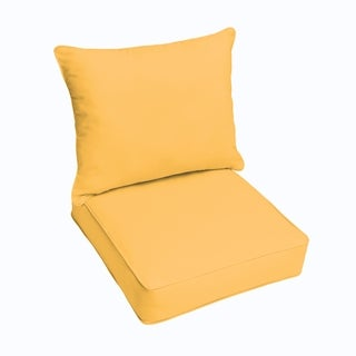 Sloane Butter Yellow Indoor/ Outdoor Corded Chair Cushion And Pillow Set