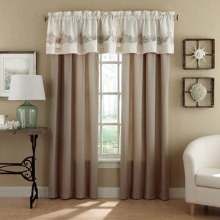 Chapel Hill by Croscill Seashore Pole Top Beige Drapery