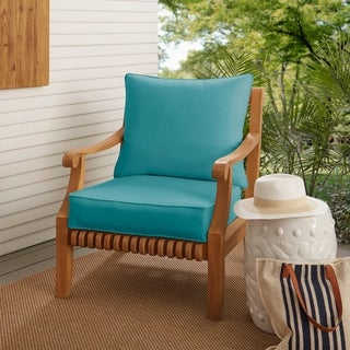 Sloane Aqua Blue Indoor/ Outdoor Corded Chair Cushion And Pillow Set