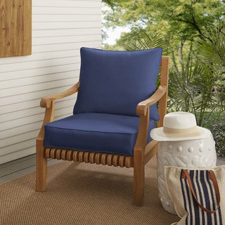 Sloane Dark Blue Indoor/ Outdoor Corded Chair Cushion And Pillow Set
