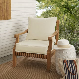 Sloane Ivory Indoor/ Outdoor Corded Chair Cushion And Pillow Set