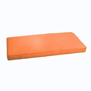 Sloane Bright Orange 60-inch Indoor/ Outdoor Corded Bench Cushion
