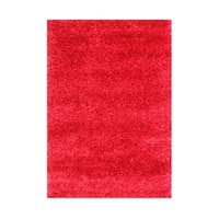 The Alliyah Beautifully Hand-crafted European Elegance Red Modern Shag Rug (4' x 6')