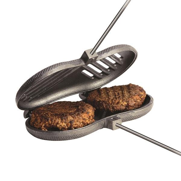 Cast Iron Dbl Burger Cooker