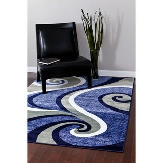 "Persian Rugs Modern Trendz Collection Blue Rug - 5'2"" x 7'2"""
