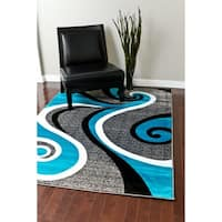 Persian Rugs Modern Trendz Collection Turquoise Rug