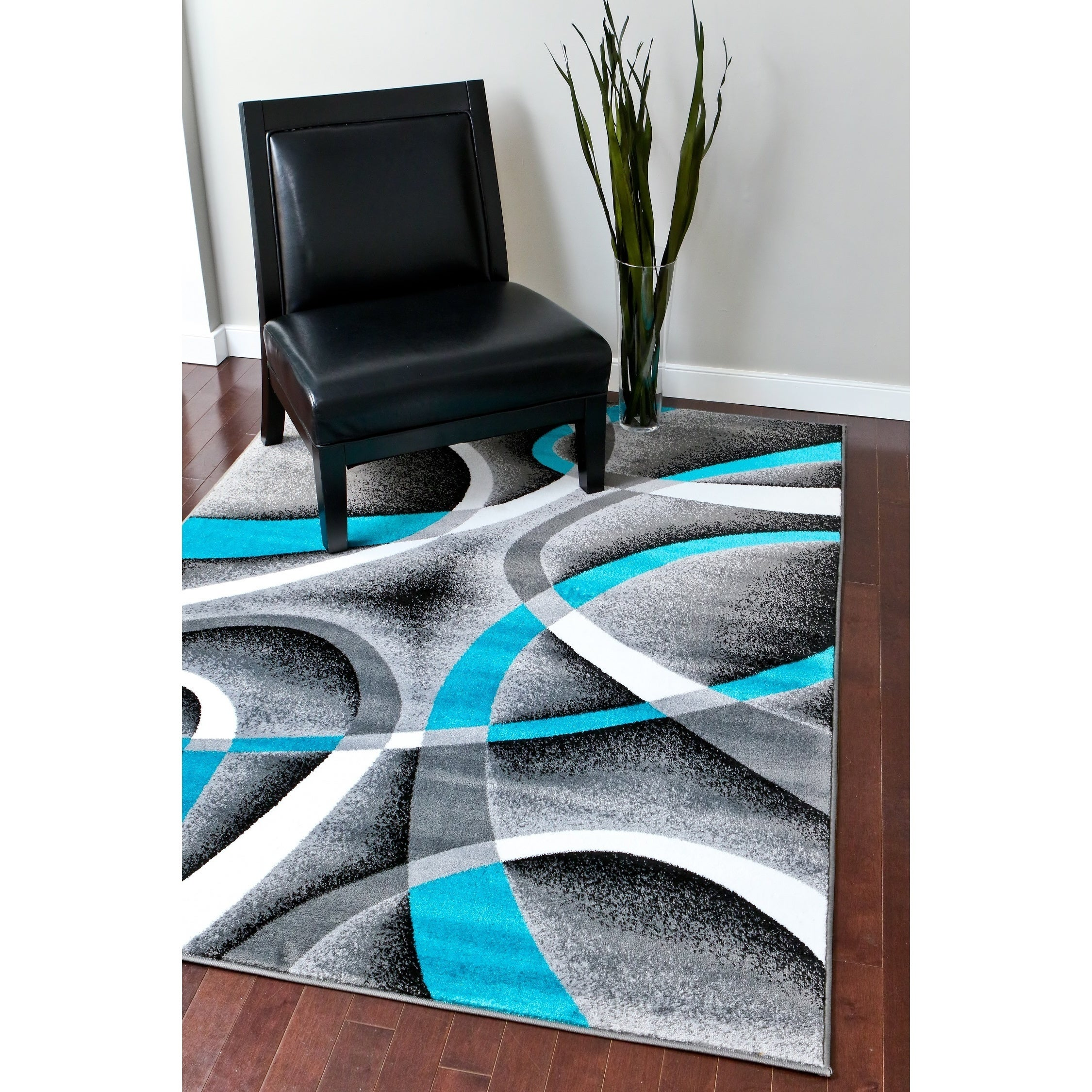Turquoise Kitchen Rugs New Rug In The: Persian Rugs Modern Trendz Collection Turquoise/ Grey Rug