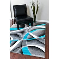 Persian Rugs Modern Trendz Collection Turquoise/ Grey Rug