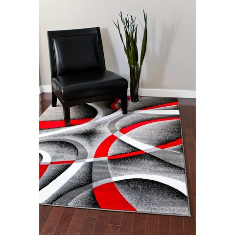 Persian Rugs Modern Trendz Collection Grey Rug - 7'10 x 10'2