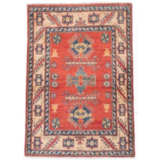 ecarpetgallery Finest Gazni Red Wool Rug (3'5 x 4'11)
