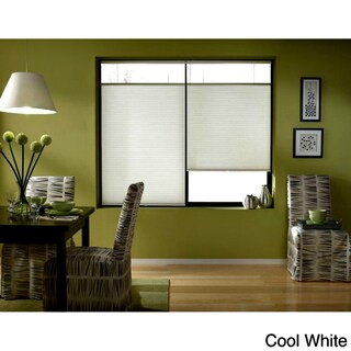 First Rate Blinds Cool White Cordless Top Down Bottom Up 30 to 30.5-inch Wide Cellular Shades (More options available)