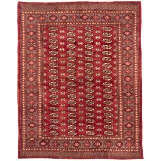ecarpetgallery Finest Peshawar Bokhara Orange Wool Rug (7'2 x 9')