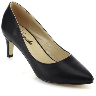 ATREVIDA HADLEY-01 Women's Kitten Heel Pointy Toe Pumps