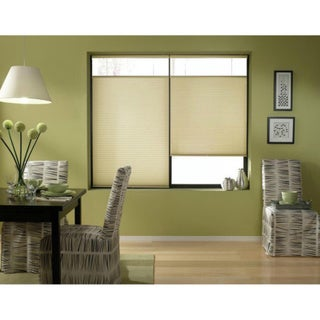 Link to First Rate Blinds Ivory Beige Cordless Top Down Bottom Up 33 to 33.5-inch Wide Cellular Shades Similar Items in Blinds & Shades